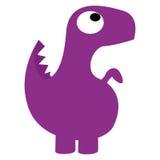 Un dinosauro porpora del fumetto sveglio di vettore isolato Fotografia Stock