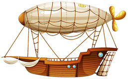 Un dirigible stock de ilustración