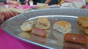 Un disco de la comida fría del partido Fotografía de archivo libre de regalías