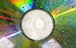 Un disco mojado del dvd Imágenes de archivo libres de regalías