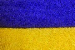 Un diseño de dos colores de azul y de amarillo fotografía de archivo