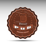 Un diseño de estera de la cerveza Imagenes de archivo