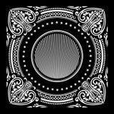 Ornamento cuadrado clásico del fondo Imagenes de archivo