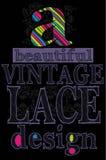 Un diseño hermoso del cordón del vintage Vector para la camiseta Imagenes de archivo