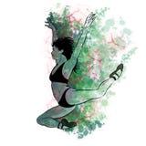 Un disegno della mano di una ballerina Illustrazione di un ballerino di balletto Girl illustrazione vettoriale