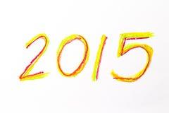 un disegno di 2015 mani per il nuovo calendario Fotografia Stock Libera da Diritti
