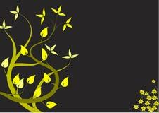 Un disegno floreale giallo astratto Illustrazione Vettoriale