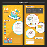 Un diseño atractivo de la plantilla del sitio web de la página con el elem del hoja informativa Imagen de archivo libre de regalías