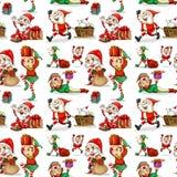 Un diseño de la Navidad con los duendes Imagen de archivo