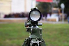 Un dispositivo di avvistamento dell'artiglieria Fotografie Stock Libere da Diritti