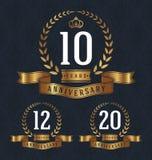 Un distintivo di 10 anniversari Fotografia Stock