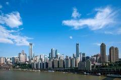 Un distretto di Linjiangmen Yuzhong della sezione del ponte Fotografia Stock Libera da Diritti