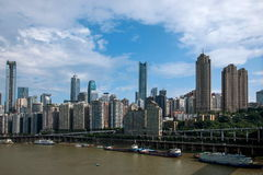 Un distretto di Linjiangmen Yuzhong della sezione del ponte Fotografie Stock