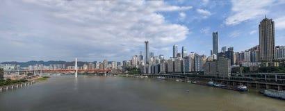 Un distretto di Linjiangmen Yuzhong della sezione del ponte Immagine Stock