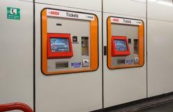 Un distributeur automatique pour des billets de transport en commun Vienne, Autriche Photos libres de droits