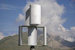 Un diverso molino de viento en el valle de Aosta Foto de archivo libre de regalías