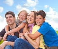 un divertimento delle 3 famiglie Fotografia Stock