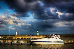 Un dock avec un seagate photographie stock libre de droits
