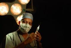 Un docteur théâtre en fonction Photos stock
