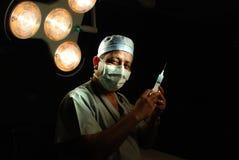 Un docteur théâtre en fonction Images libres de droits