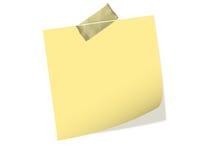 Un documento di nota con nastro adesivo Fotografia Stock