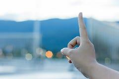 Un doigt Image stock