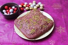 Un dolce con cioccolato Fotografia Stock