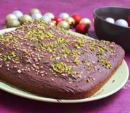 Un dolce con cioccolato Fotografie Stock