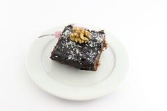 Un dolce del cacao della parte Immagini Stock Libere da Diritti