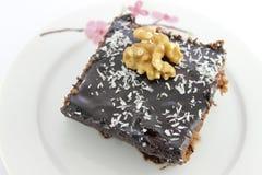 Un dolce del cacao della parte Immagine Stock Libera da Diritti