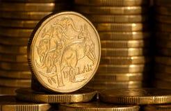 Un dollaro australiano Immagine Stock Libera da Diritti