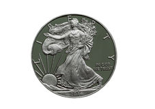 Un dollaro d'argento dei 2014 Stati Uniti d'America della prova Fotografia Stock