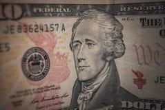 un dollaro di 10 americani Fotografia Stock Libera da Diritti