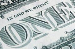 Un dollaro nella macro Immagine Stock