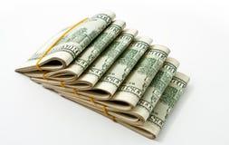 Un dollaro US 100 Isolato su priorità bassa bianca Immagini Stock Libere da Diritti
