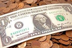 Un dollaro US Immagine Stock