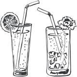 Un doodle dei due cocktail Immagine Stock Libera da Diritti