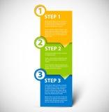 Un dos tres - pasos de progresión de papel del vector libre illustration