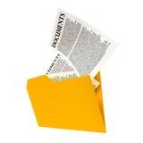 Un dossier jaune Images libres de droits