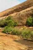 Un dossier simple de roche de complexe sittanavasal de temple de caverne photographie stock libre de droits