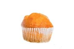 Un double Chip Muffin Isolated cuit au four frais sur le blanc images libres de droits