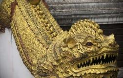 Un dragón de Wat Chedi Liam, Wiang Kum Kam, Chiang Mai, Tailandia fotografía de archivo libre de regalías