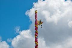 Un dragón en el top cerca en un área brillante Fotografía de archivo