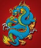 Dragón chino en espiral Foto de archivo