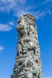 Un dragon de découpages de pilier Photographie stock libre de droits