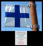 un drapeau de signal au homer Alaska photographie stock libre de droits