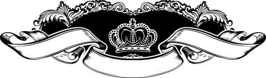 Un drapeau royal de cru de tête de couleur Image libre de droits