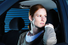 Un driver alla notte Immagini Stock Libere da Diritti