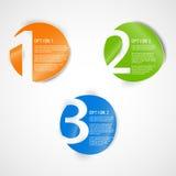 Un due tre - icona di progresso. Immagini Stock