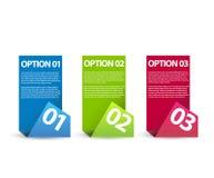 Un due tre - opzioni di carta di vettore Fotografia Stock